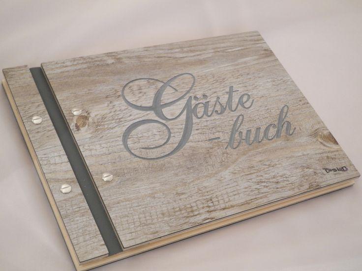 Gästebücher - Gästebuch mit raffinierten gestalteten Seiten - ein Designerstück von Affelner-Alben-Stuebchen bei DaWanda