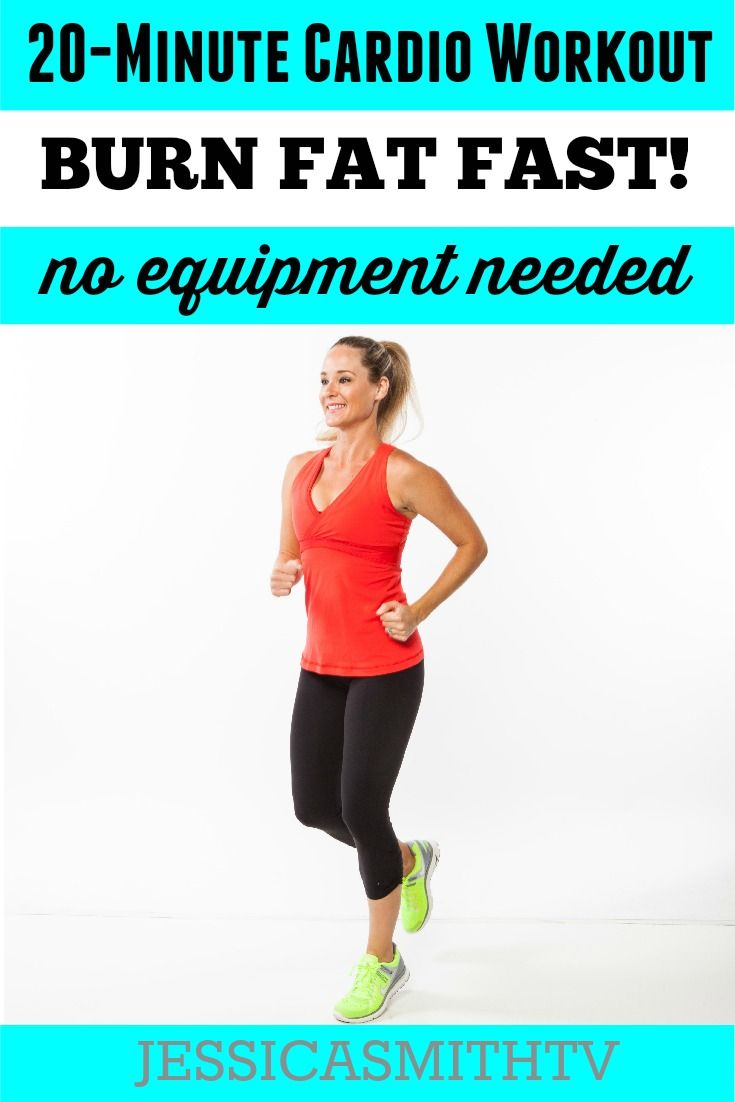 This equipment free cardio workout burns more calories and can be done anytime anywhere you need a quick but effective sweat sesh