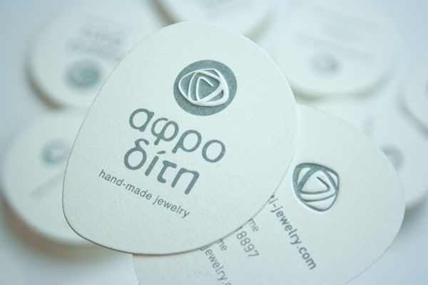 Aphrodite hand-made jewelry logo & business card by Panos Nikolaou, via Behance