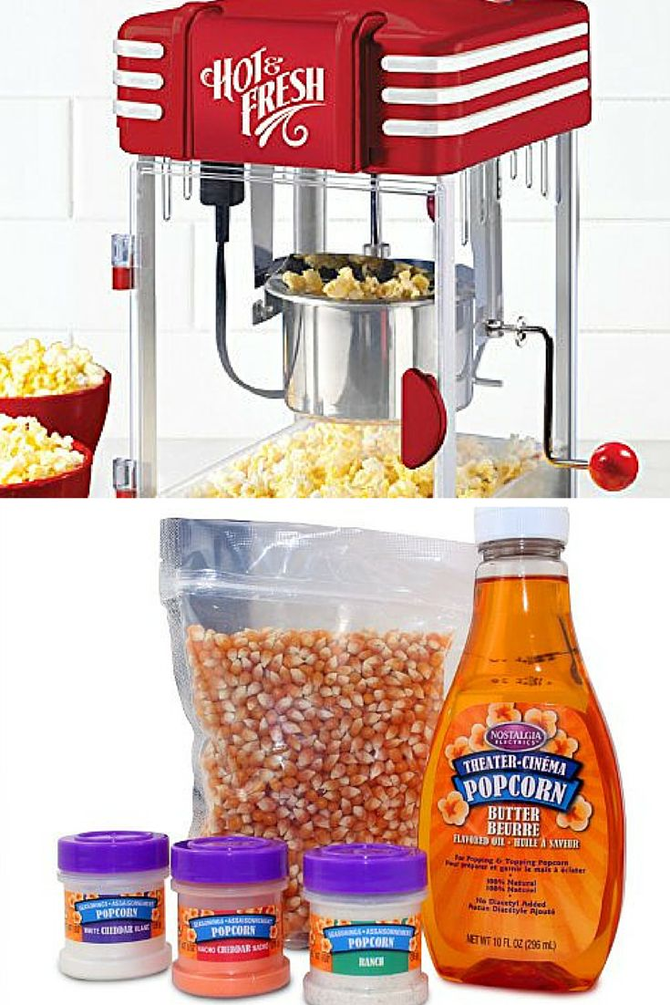 Retro Popcorn Maker and Popcorn Kit complete with oil and seasonings