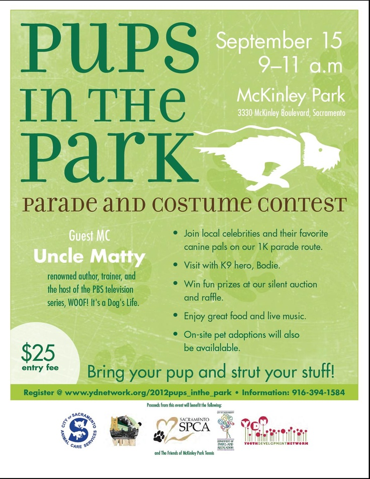 Sept 15th - Pups in The Park