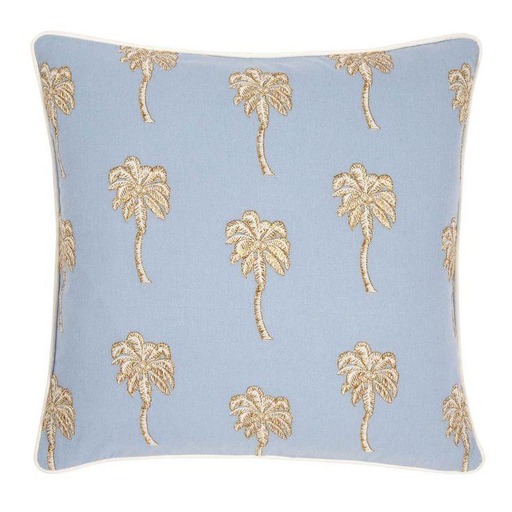 Palmier Chambray Cushion