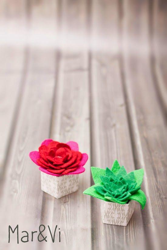 mini felt plants (Italian tutorial)