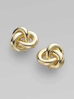Roberto Coin 18K Gold Knot Earrings