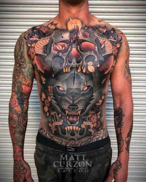 8f69d14ed Full Torso Tattoo Neo-Traditional | Free Tattoo Designs | Torso ...