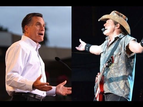 """""""The DNC calls on Romney to denounce controversial remarks made by Nugent at an NRA convention. As Rebekah Metzler reports, Democrats are attacking Mitt Romney over remarks made by musician and gun enthusiast Ted Nugent, who has endorsed Romney, during a radio interview at a recent National Rifle Association event. Nugent called President Obama and members of his administration """"criminals"""" and promised that if Obama is re-elected, """"I will either be dead or in jail."""""""