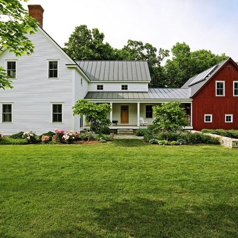 Connected Farm House And Barn Charlotte Entry Garden Traditional Exterior Other Metro Church Hill Landscapes Inc