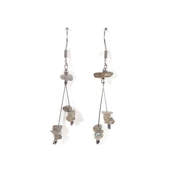 Silver earrings labradorite jewelry romantic by DSNatureetCreation