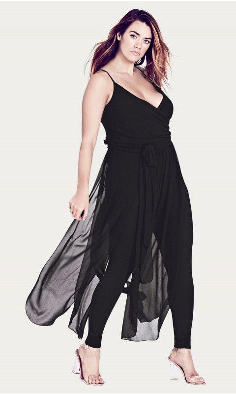 Plus Size Jumpsuit Overlay $120