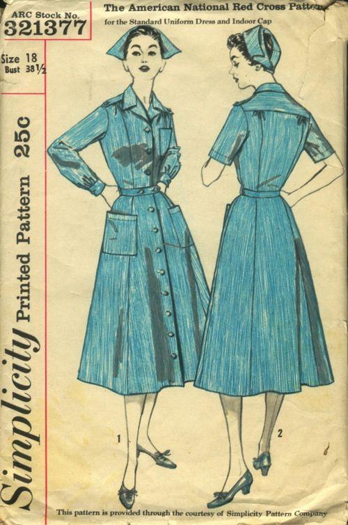 Nurse Uniform Sewing Pattern 42
