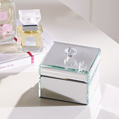 Mirrored Small Jewelry Box // for the most sophisticated jewelry!