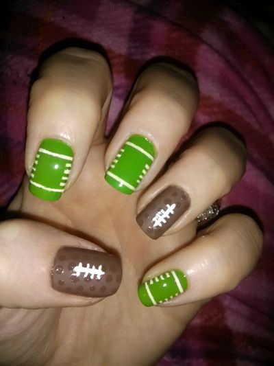 Warrior football  nail art season 2013, kdcudjoe @ instagram