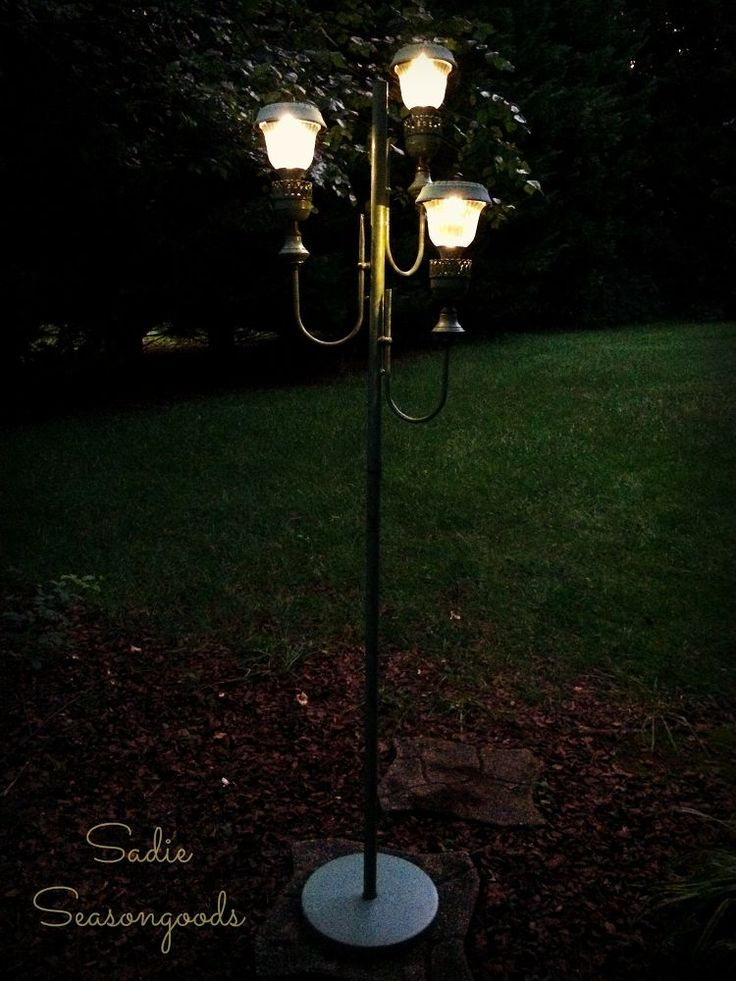 From Old Floor Lamp To New Solar Lights