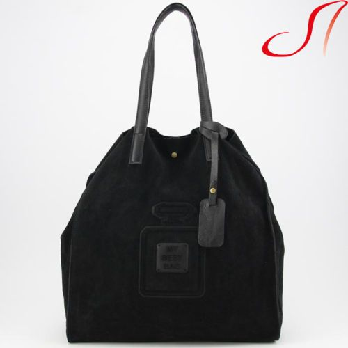 Leder Shopper Schwarz My Best Bag