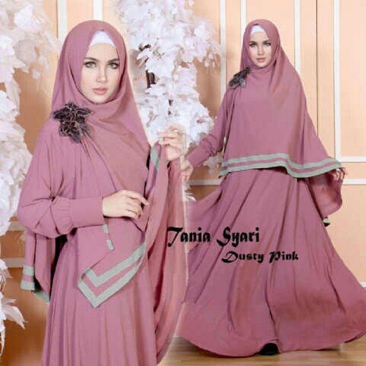 Gamis Syar'i Modern TANIA SYARI DUSTY - http://warongmuslim.com/gamis-syari/gamis-syari-modern-tania-syari-dusty/