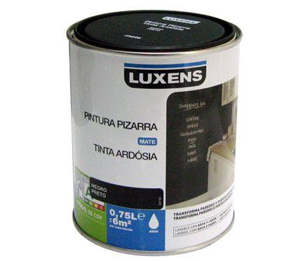 Pizarra negro luxens leroy merlin 0 75l 13 95 - Pintura vintage leroy merlin ...