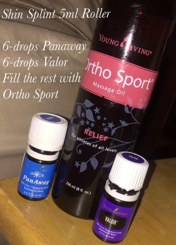 Shin Splint Ease- using Young Living Essential Oils PanAway, Valor and Ortho Sport massage Oil Relief