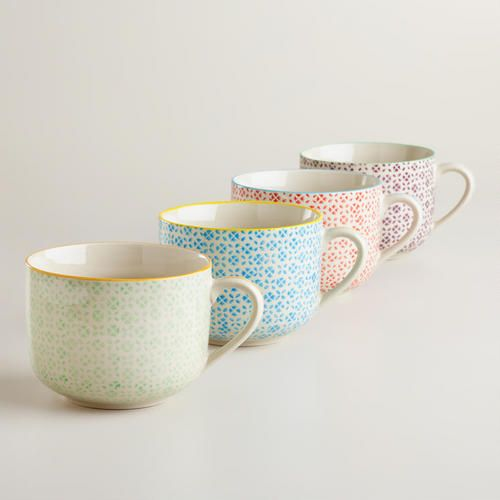 One of my favorite discoveries at WorldMarket.com: Charlotte Mugs, Set of 4
