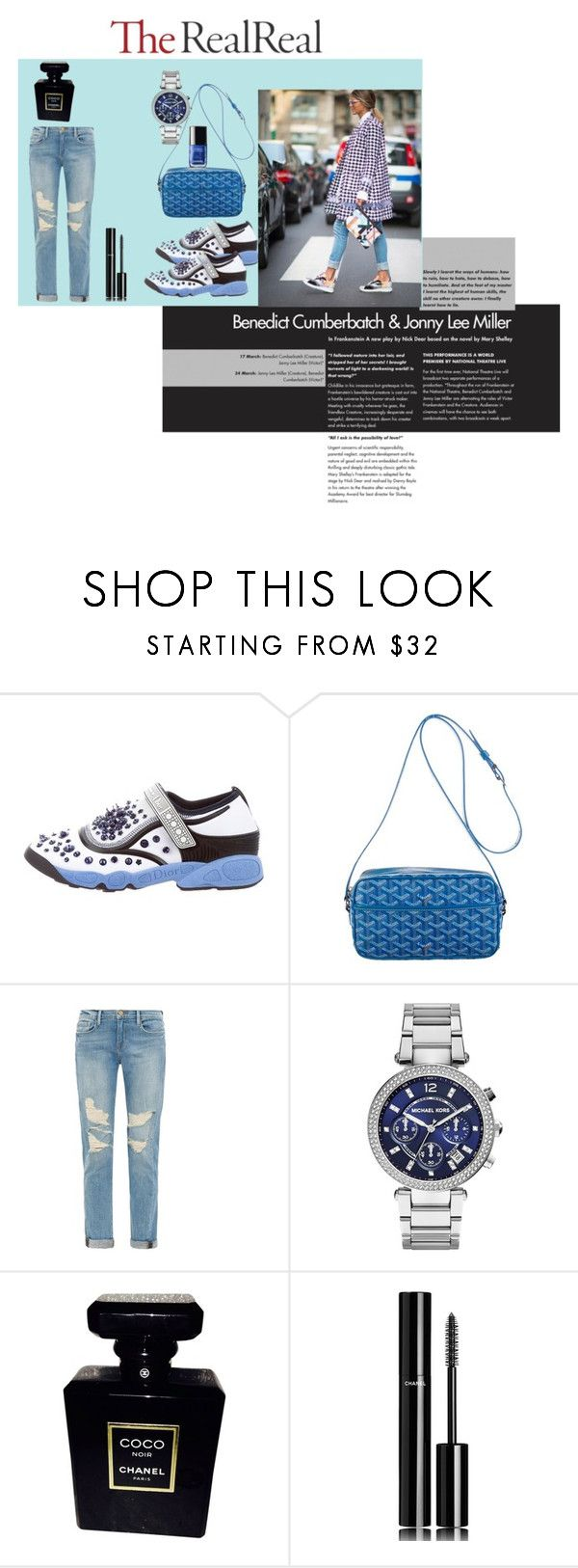 """Untitled #113"" by popescu-io on Polyvore featuring Christian Dior, Goyard, Frame Denim, MICHAEL Michael Kors and Chanel"