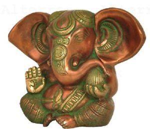 Baby Ganesha verkupfert H 12,5cm