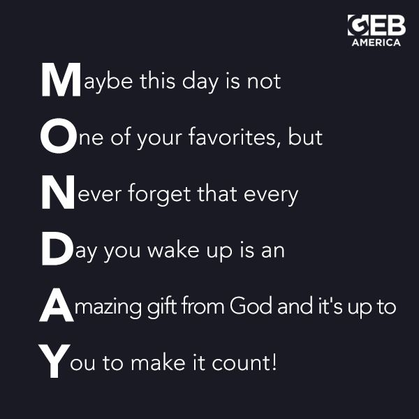 Make Your Day Count Quotes: Every Day Is A Gift From God. Make TODAY Count! REPIN This