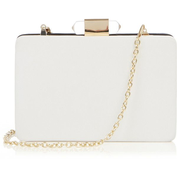 OASIS Contrast Hardcase Clutch featuring polyvore, fashion, bags, handbags, clutches, purses, malas, multi, black clutches, white handbags, white purse, black box clutch and box clutch