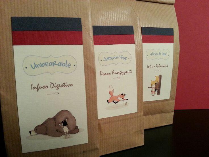 Infusi e tisane, illustrazione e realizzazione packaging