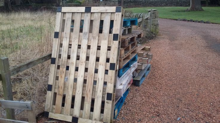 Picture of Ed Gin Pallets supplied by Ed Gin - please note we would not be using the Blue Chep pallets. Ed Gin do not know what type of wood the pallets are made from