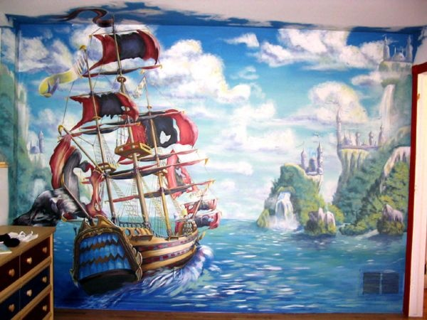 1000 images about murals on pinterest wall murals pirate theme wall murals by colette pirate wall murals