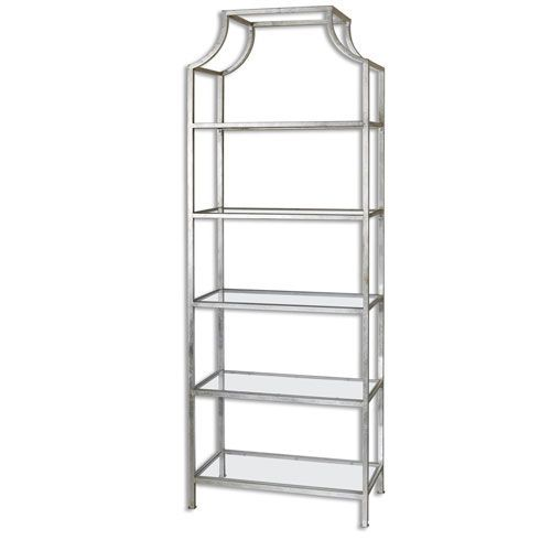 Aurelie Silver Etagere Uttermost Free Standing Shelves & Bookcases Home Office Furniture #BellacorGiveaway
