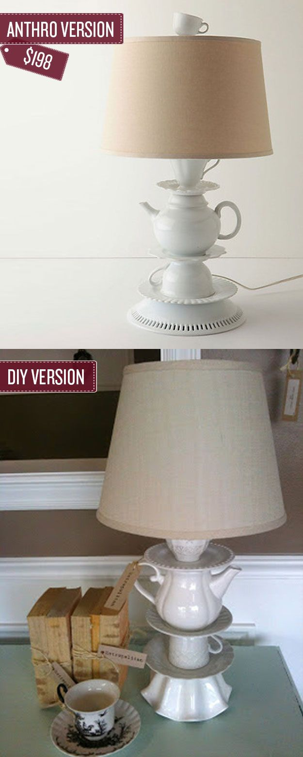 Build a tea cup lamp.