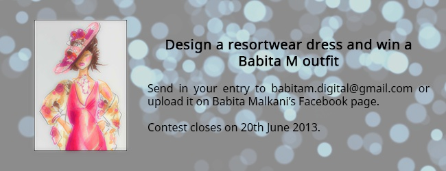 Babita M's Design and win contest is heating up! Send in your entry to babitam.digital@gmail.com now.