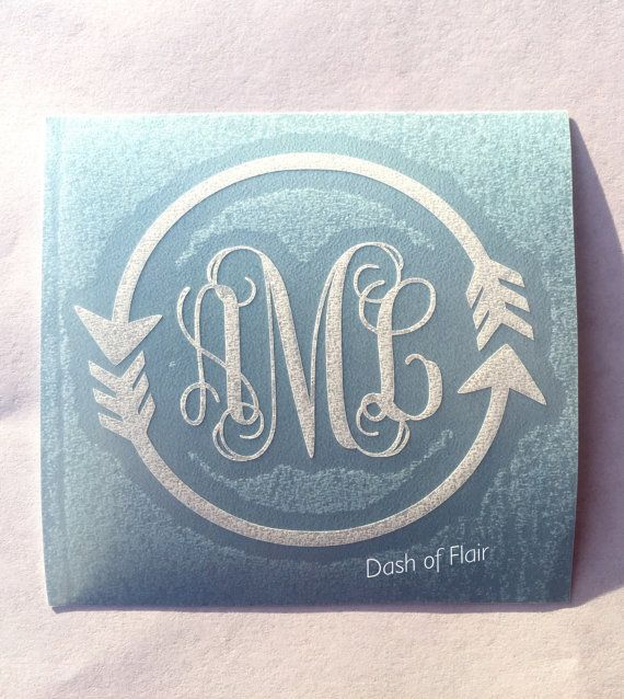 Hey, I found this really awesome Etsy listing at https://www.etsy.com/listing/399229453/arrow-monogram-decal-for-women-for
