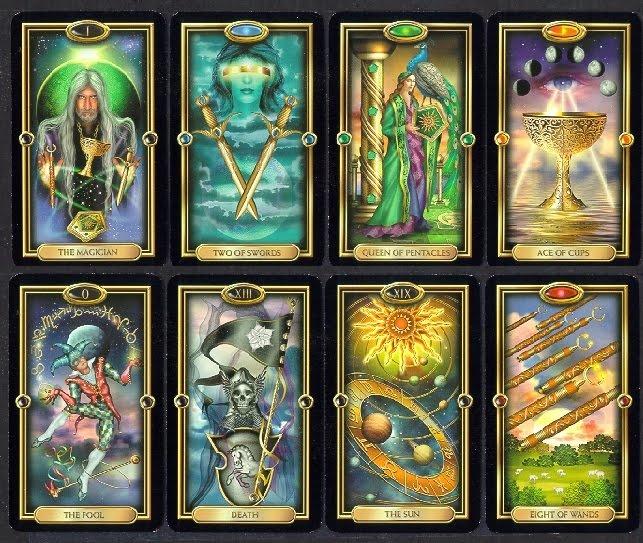how to break in tarot cards