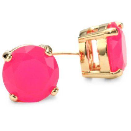 "Kate Spade New York ""Gumdrops"" Pink Stud EarringsKate Spade Earrings, Spade Gumdrop, Pink Studs, Stud Earrings, Hot Pink, York Gumdrop, Studs Earrings, New York, Katespade"