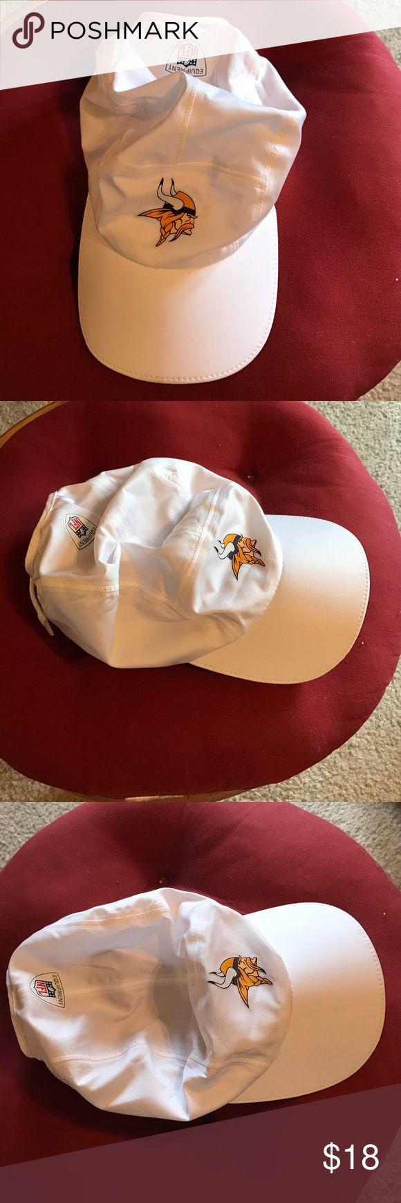"vikings dri-fir running hat nfl equipment. nike. minnesota vikings dri fit ""running"" cap. light weight. sweat wicking. never been worn. 🏈 nfl equipment Accessories Hats"