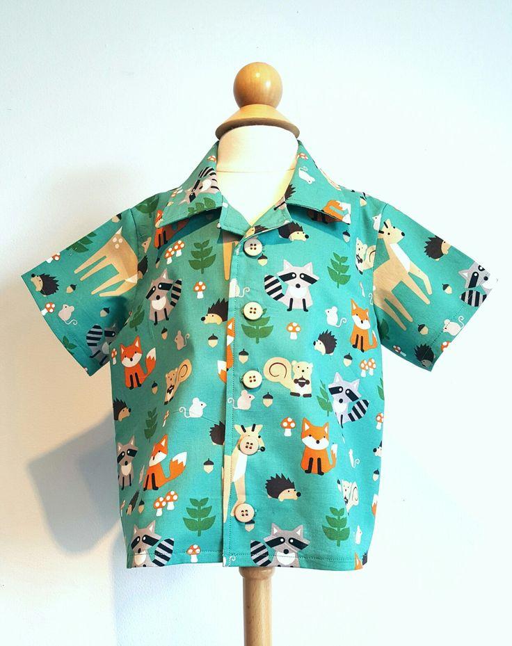 One of a kind. Woodland creatures shirt. Size 2. www.facebook.com/kaibrecad