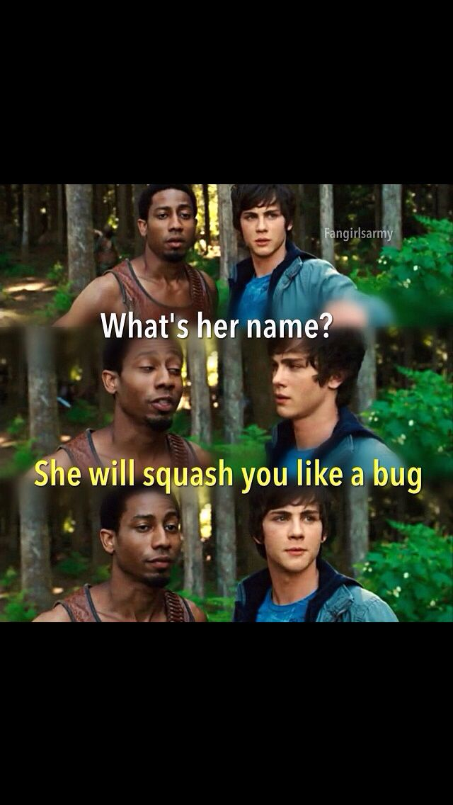 Percy-*enunciating* Her name. Grover- Annabeth Chase daughter of Athena goddess of wisdom.