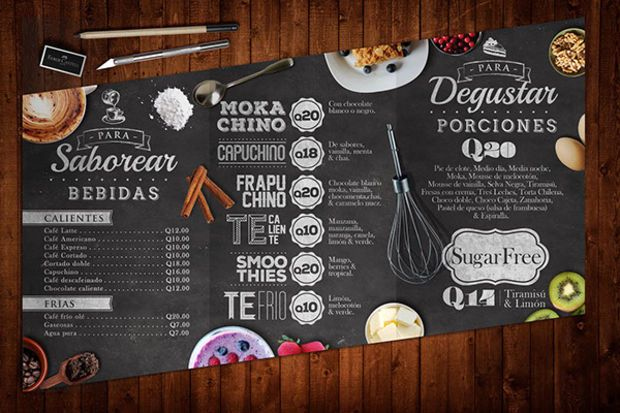 DROOL. Gorgeous vintage, clean, fun and simply stunning menu graphic design. (25 Excellent Restaurant Menu Designs - UltraLinx)