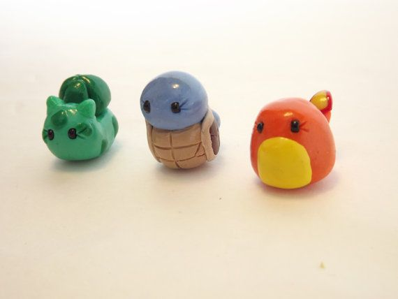 First Generation Pokemon Starters Charms by WhiteWillowBoutique