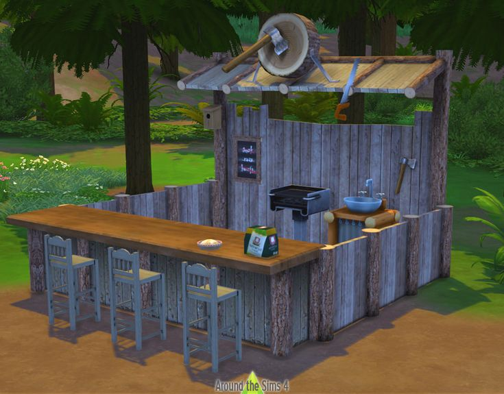 Around the Sims 4 | Custom Content Download | Objects | Sims 2 to 4 Food Stands