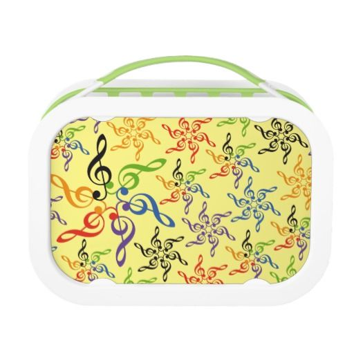 Arcoiris música clave sol. Music. Producto disponible en tienda Zazzle. Product available in Zazzle store. Regalos, Gifts. Link to product: http://www.zazzle.com/arcoiris_musica_clave_sol_lunch_box-256212515474516084?CMPN=shareicon&lang=en&social=true&rf=238167879144476949 #lonchera #LunchBox #música #music
