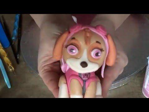 Modelando con fondant: Skye de Patrulla Canina - YouTube