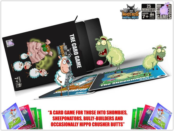 For info on our CARD GAME you can click on the link below:   https://www.kickstarter.com/projects/594158725/whos-boss-animal-riots-the-card-game-for-roguish-b…