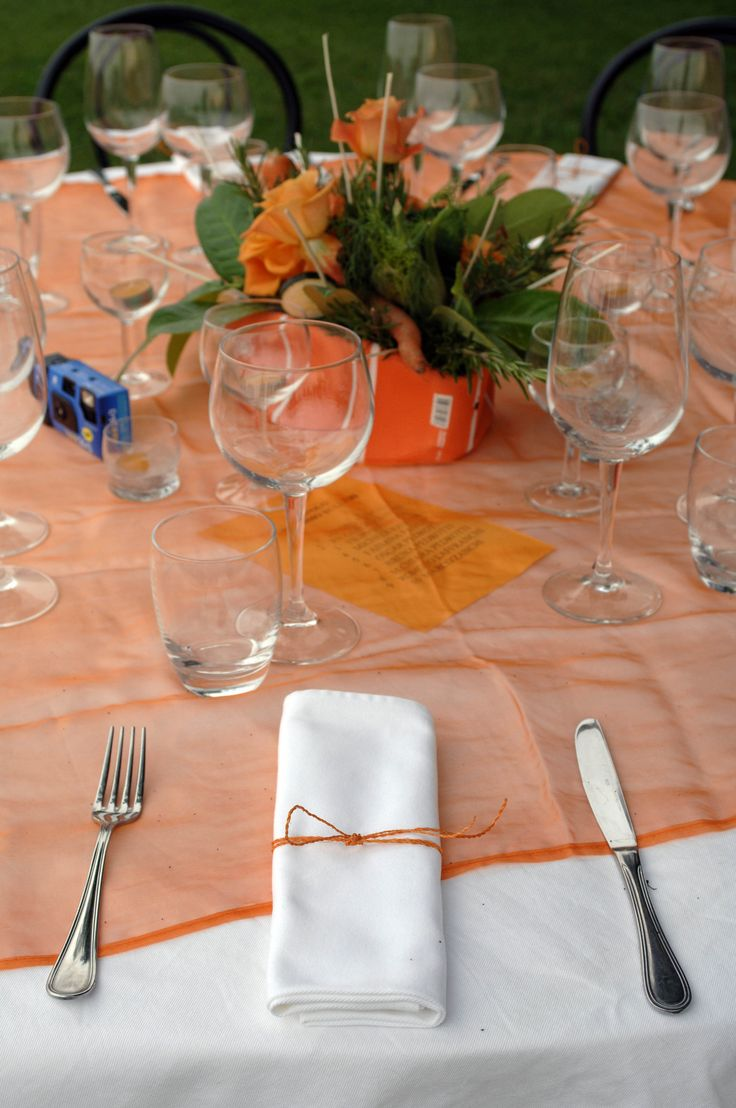 #wedding #table #orange #events