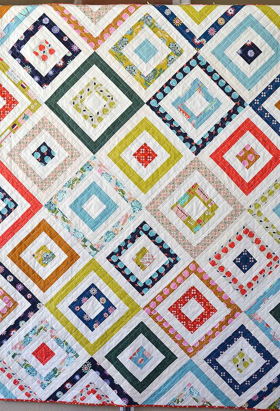 picnic basket quilt such a simple and effective design when put on point.