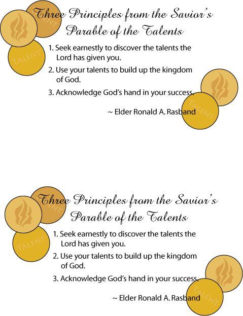 Parable of Talents Handout | Mormon Share