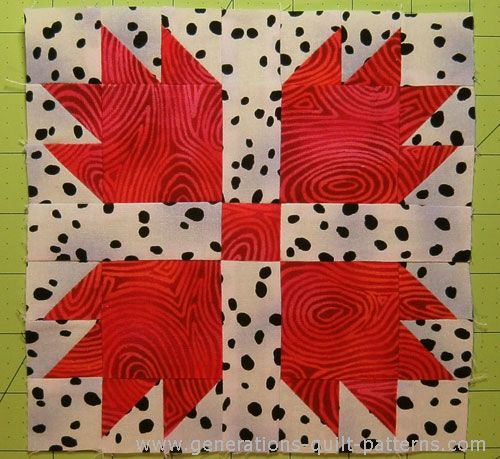 Make a Bears Paw Quilt Block using our fully illustrated instructions for blocks in three sizes.
