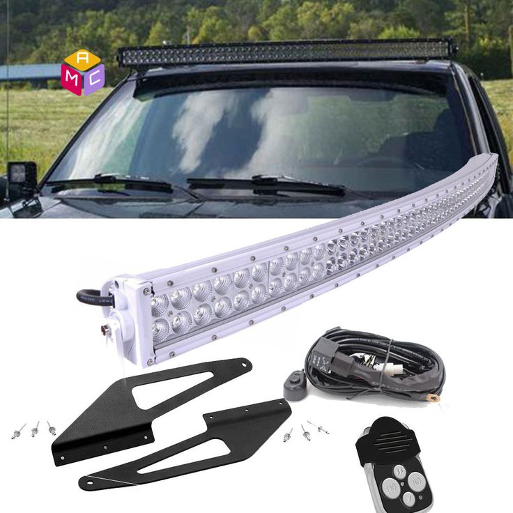 50in Curved LED Light Bar+ Upper Windshield Mounts 93-98 Jeep Grand Cherokee ZJ #MACAUTOstore