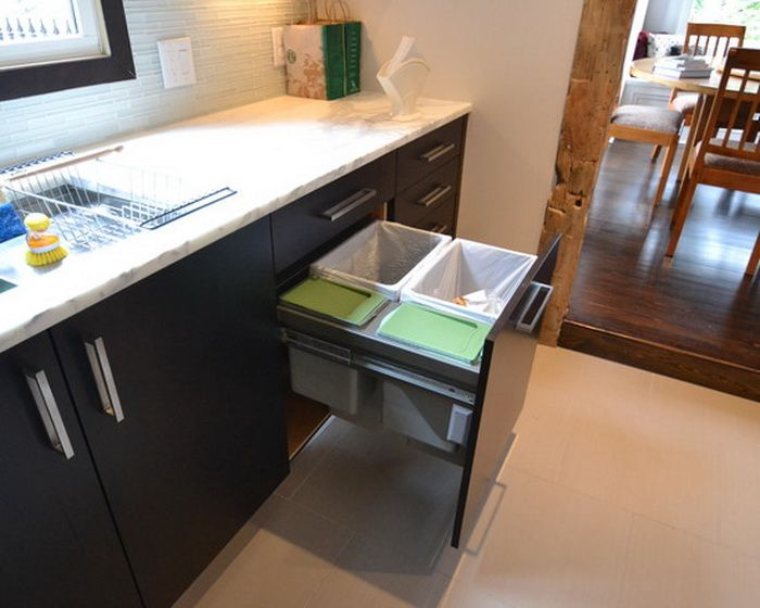 Kitchen Cabinets Design With Pull Out Trash Cans Ideas   Home .